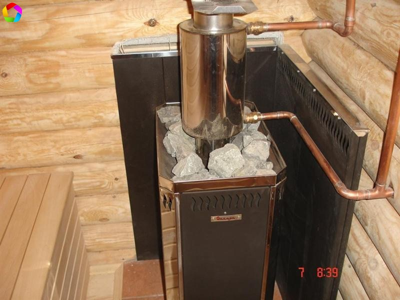 Как сделать печь для бани с баком для воды